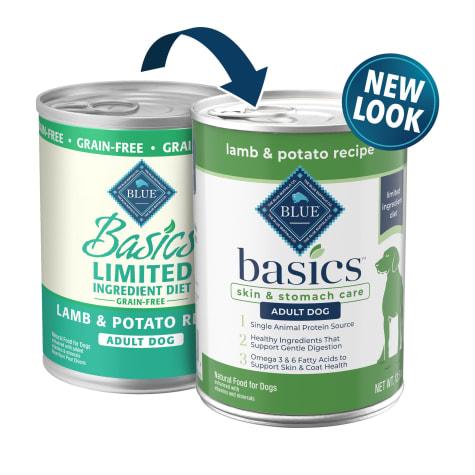 Blue Buffalo Blue Basics Limited Ingredient Grain Free Lamb Potato Canned Dog Food 12 5 Oz Case Of 12 Petco