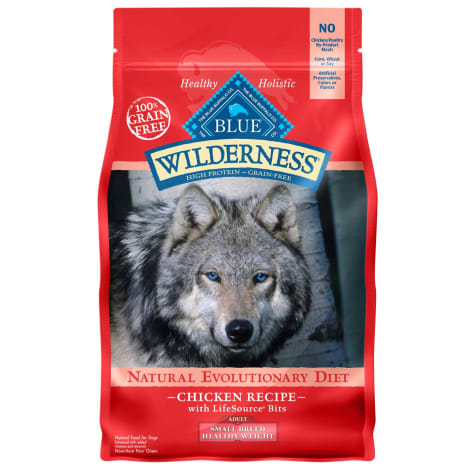Blue Buffalo Blue Wilderness Grain Free Chicken Small Breed Healthy Weight Adult Dog Food