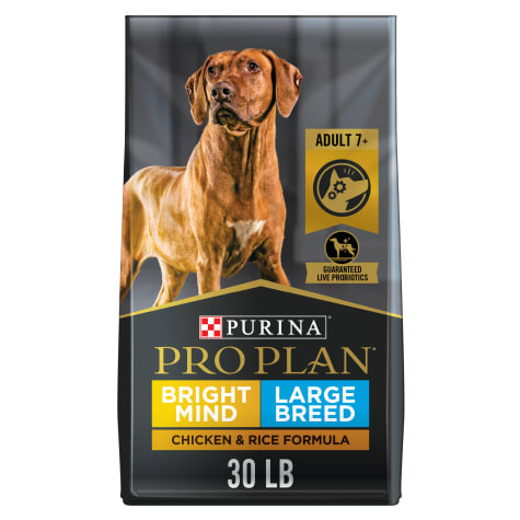Purina Pro Plan Bright Mind Large Breed Formula Adult 7+ Dry Dog Food