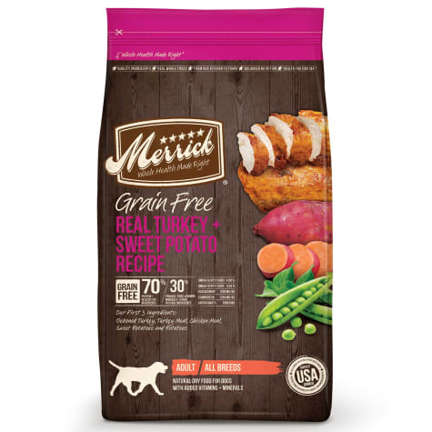 Merrick Grain Free Real Turkey + Sweet Potato Dry Dog Food
