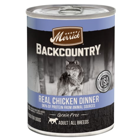 Merrick Backcountry 96% Real Chicken Grain Free Wet Dog Food