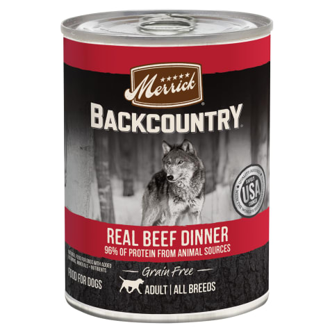 Merrick Backcountry Grain Free 96% Real Texas Beef Wet Dog Food