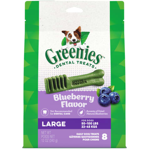 Greenies Blueberry Flavor Large Dog Dental Chews