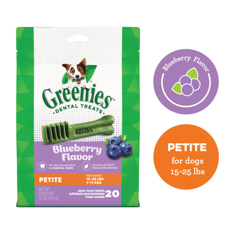 Greenies Blueberry Flavor Petite Dog Dental Chews