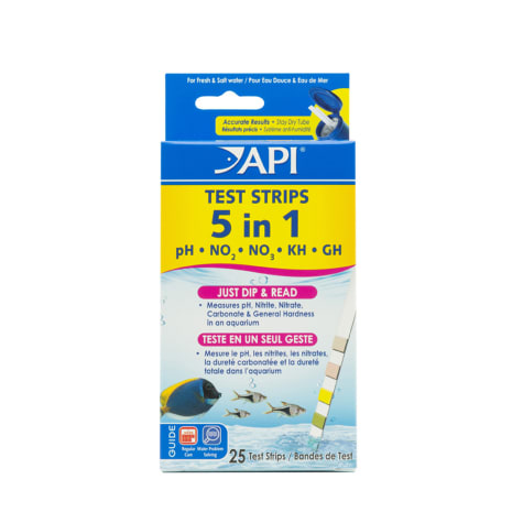 API 5-IN-1 TEST STRIPS Freshwater and Saltwater Aquarium Test Strips