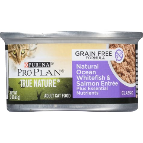 Purina Pro Plan True Nature Grain Free Formula Natural Ocean Whitefish & Salmon Entree Wet Cat Food
