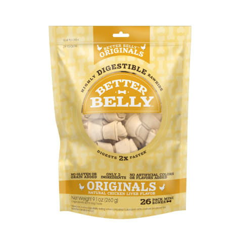 Better Belly Chicken Rawhide Mini Dog Chews