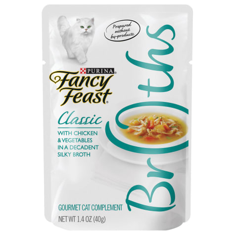 Fancy Feast Broths Classic Chicken & Vegetables Cat Food Complement