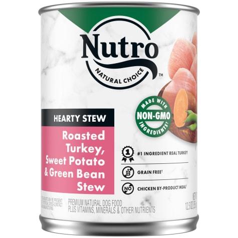 Nutro Cuts in Gravy Roasted Turkey, Sweet Potato & Green Bean Hearty Stew Adult Canned Wet Dog Food