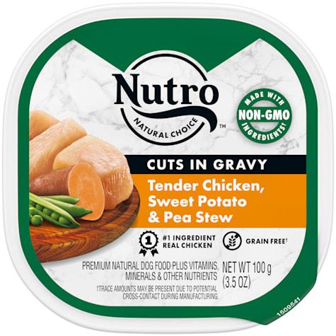 Nutro Grain Free Cuts in Gravy Tender Chicken, Sweet Potato & Pea Stew Wet Dog Food
