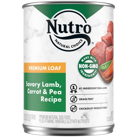 Nutro Premium Loaf Savory Lamb, Carrot & Pea Recipe Adult Canned Wet Dog Food