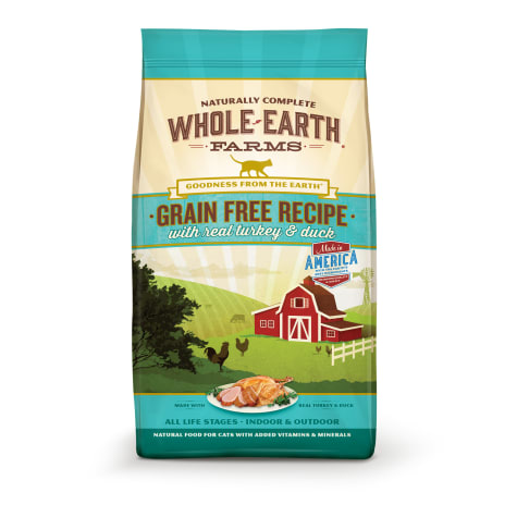 Whole Earth Farms Grain Free Real Turkey & Duck Cat Food