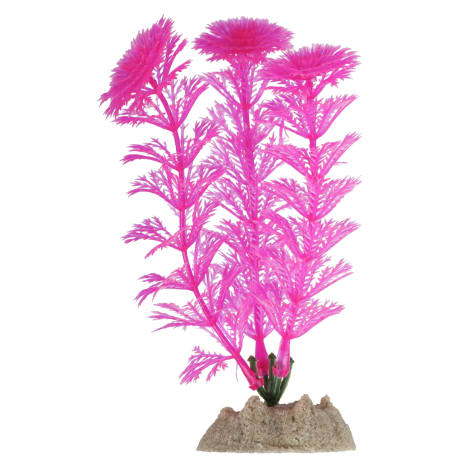 GloFish Fluorescent Aquarium Decor Pink Plant