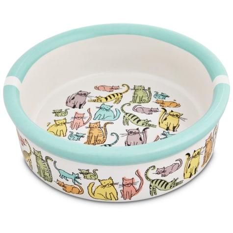 Harmony Cat Town Ceramic Cat Bowl