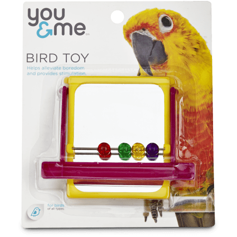You & Me Mirrored Bead Bird Toy