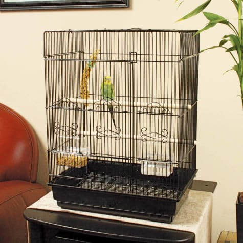 You & Me Square Top Parakeet Cage
