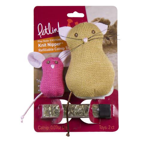 Petlinks Knit Nipper Cat & Mouse Refillable Catnip Toys