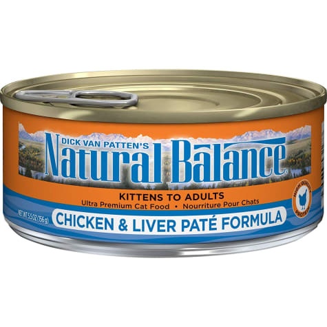 Natural Balance Chicken & Liver Pate Formula Wet Cat Food