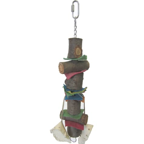 YML Wooden Rawhide Bird Toy