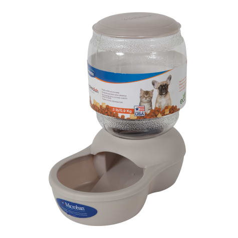 Petmate Gray Replendish Pet Feeder
