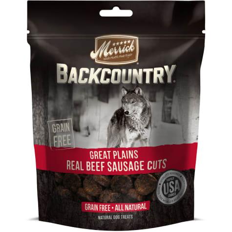 Merrick Backcountry Great Plains Real Beef Sausage Cuts Grain Free Dog Treats