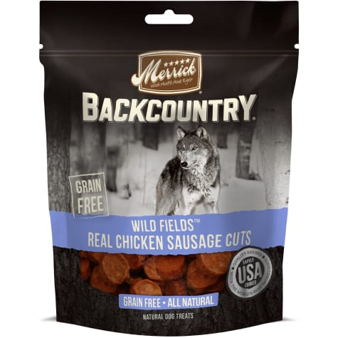 Merrick Backcountry Wild Prairie Real Chicken Sausage Cuts Grain Free Dog Treats