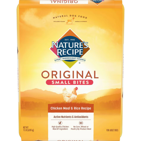 Nature's Recipe Small Bites Chicken Meal & Rice Dog Food