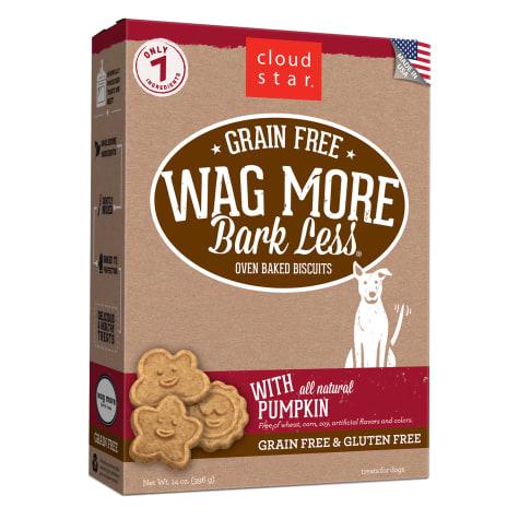 Cloud Star Wag More Bark Less Oven Baked Grain Free Pumpkin Dog Treats