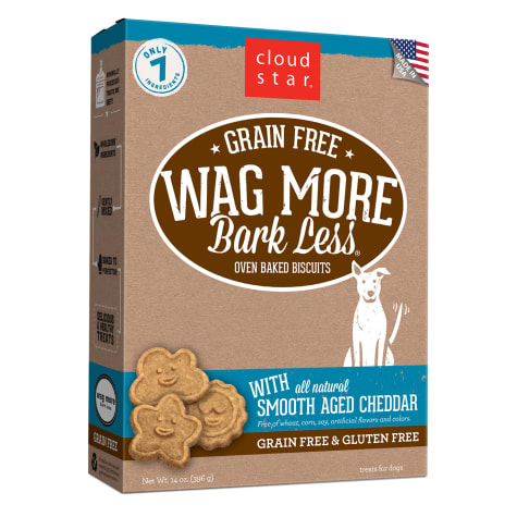 Cloud Star Wag More Bark Less Oven Baked Grain Free Aged Cheddar Dog Treats
