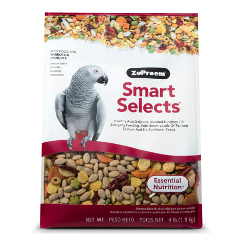 ZuPreem Smart Selects Blend Parrots and Conures, 4lbs.