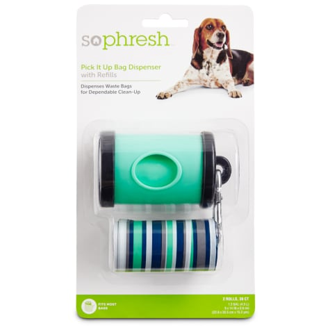 So Phresh Pick It Up Teal Dog Bag Dispenser with Refill