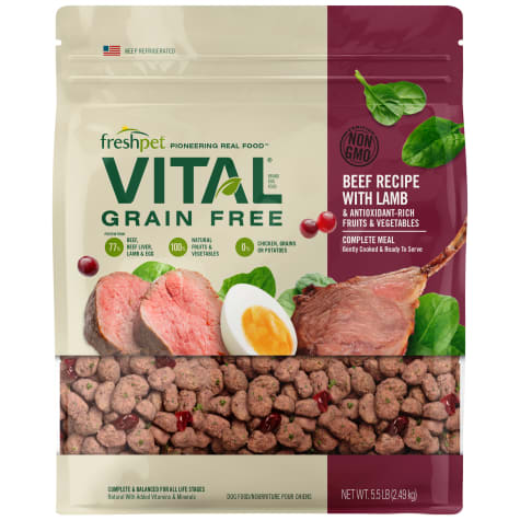 Freshpet Vital Complete Meals Grain-Free Beef & Lamb Fresh Dog Food