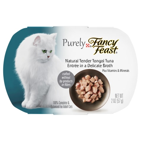 Fancy Feast Purely Naturals Tongol Tuna Adult Wet Cat Food Trays