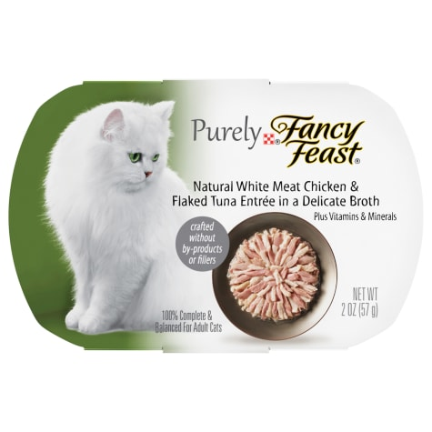 Fancy Feast Purely Naturals Chicken & Tuna Adult Wet Cat Food Trays
