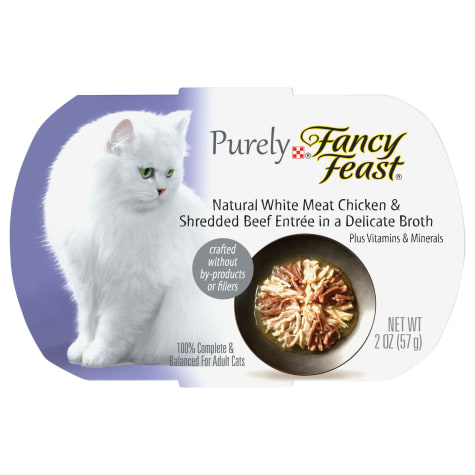 Fancy Feast Purely Naturals Chicken & Beef Adult Wet Cat Food Trays