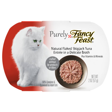 Fancy Feast Purely Naturals Skipjack Tuna Adult Wet Cat Food Trays
