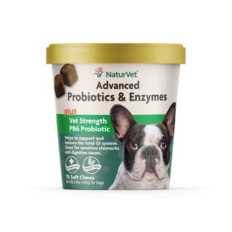 NaturVet Advanced Probiotics and Enzymes Plus Vet Strength PB6 Probiotic Soft Chews