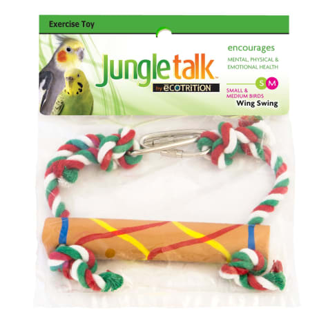 Jungle Talk By Ecotrition Small/Medium Bird Wing Swing