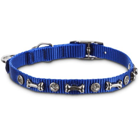Bond & Co. Blue Bling Collar