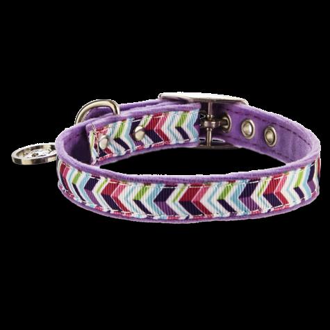 Bond & Co. Purple Zigzag Collar