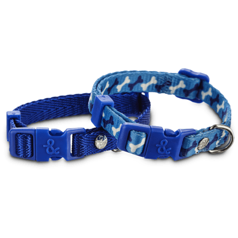Bond & Co. Blue Adjustable Collar 2 Pack