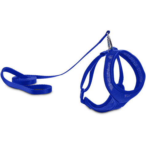 Good2Go Blue Mesh Cat Harness & Lead Set