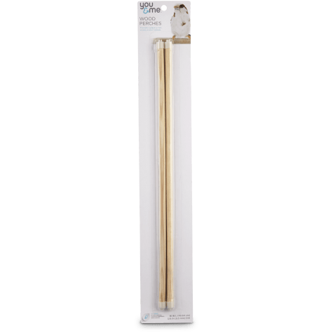 You & Me 3/8-inch Wood Bird Perch 2 Pack Set