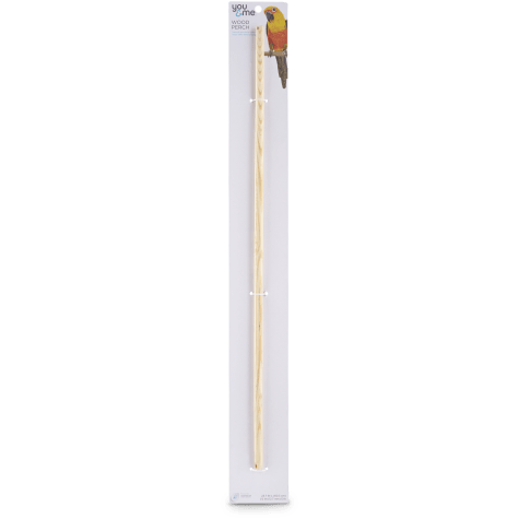 You & Me 1/2-inch Wood Bird Perch