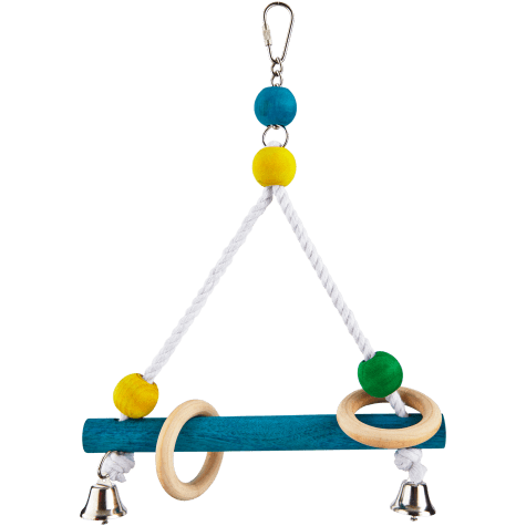 You & Me Bird Perch Swing with Bells
