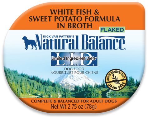 Natural Balance L.I.D. Limited Ingredient Diets Whitefish & Sweet Potato in Broth Adult Dog Food