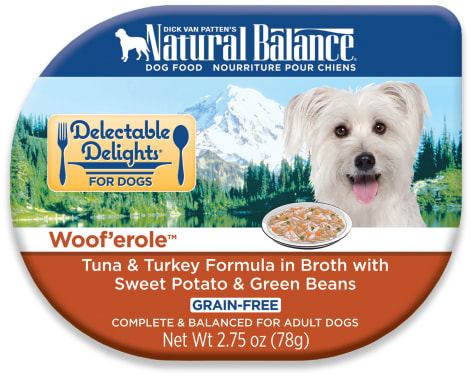 Natural Balance Delectable Delights Grain Free Woof'erole Tuna & Turkey Adult Dog Food
