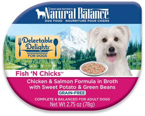 Natural Balance Delectable Delights Grain Free Fish' N Chicks Chicken & Salmon Adult Dog Food