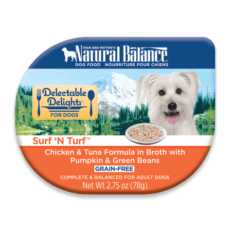 Natural Balance Delectable Delights Grain Free Surf 'N Turf Chicken & Tuna Adult Dog Food