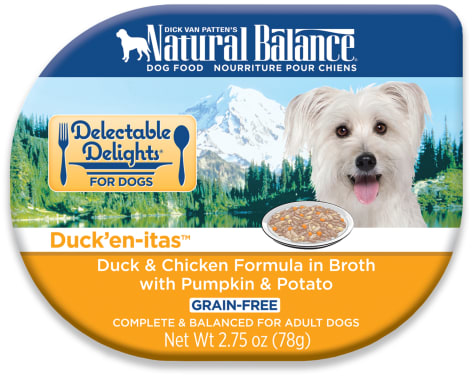 Natural Balance Delectable Delights Grain Free Duck'En-Itas Duck & Chicken Adult Dog Food